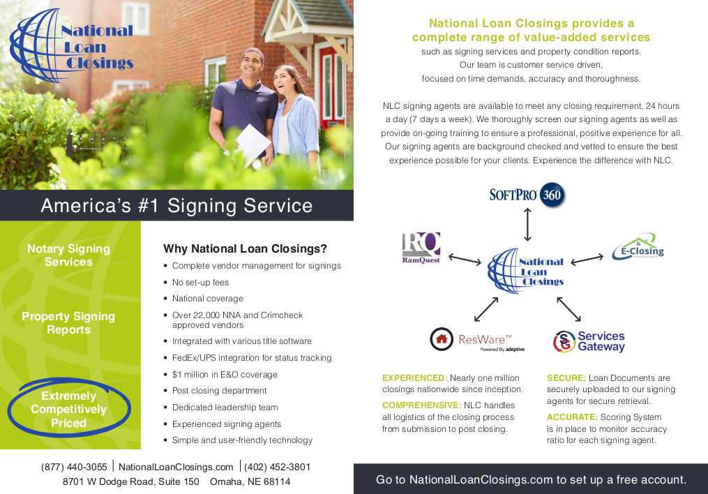National Loan Closings Brochure